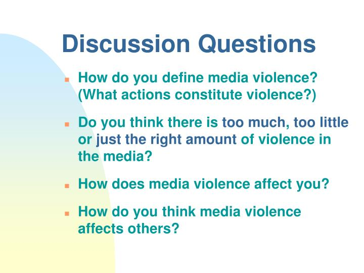 a discussion on dehumanization and glorification of violence in the media In this paper, which is the introduction to the special issue 'dehumanization: humanity and its denial,' we present a brief focusing on the findings and theorizing of the special issue articles we discuss the relation between these two concepts, their determinants and consequences, particularly in the.