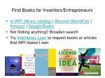 find books for inventors entrepreneurs