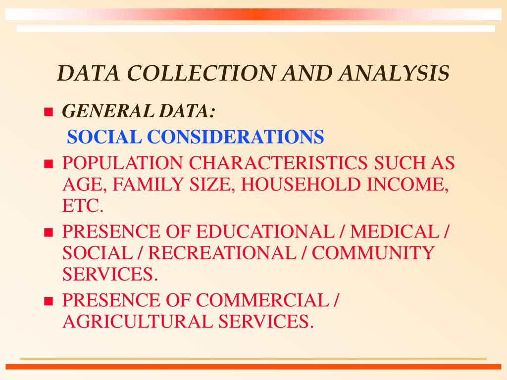 data collection and analysis l.