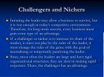 challengers and nichers
