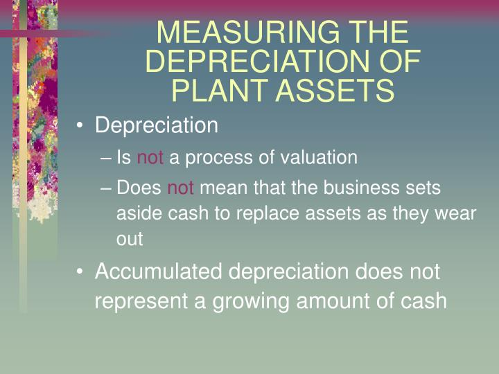 Measuring the depreciation of plant assets1