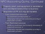 npo accounting quirks continued