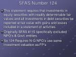 sfas number 124
