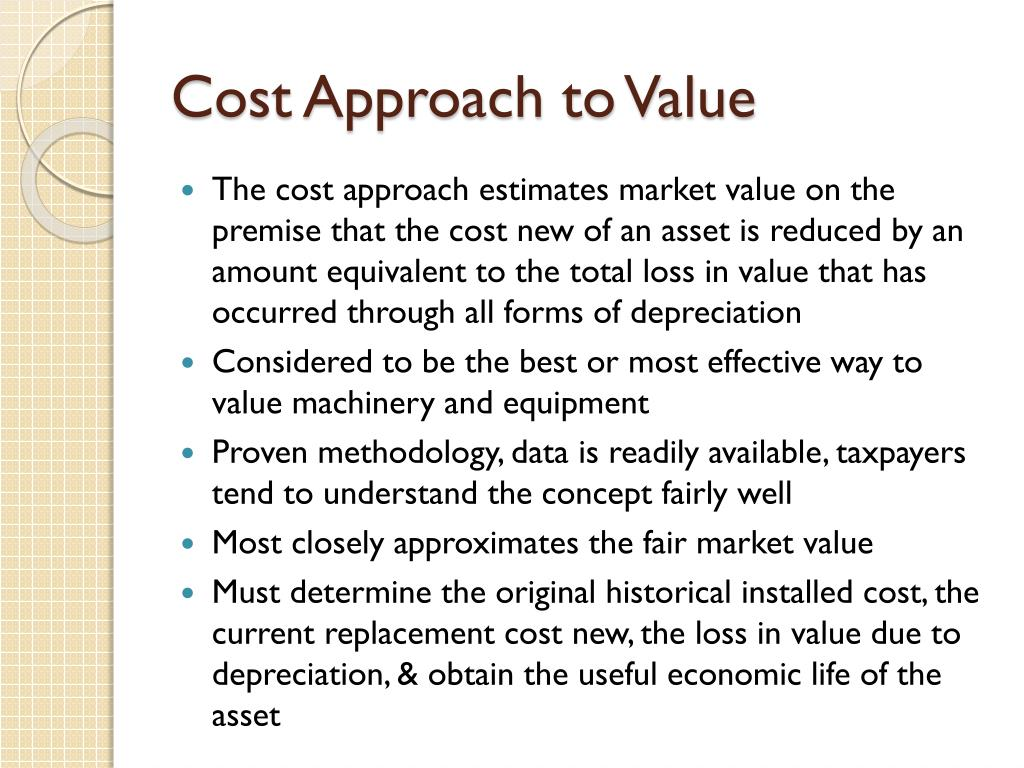 Cost Approach to Value