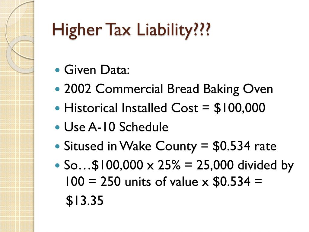 Higher Tax Liability???