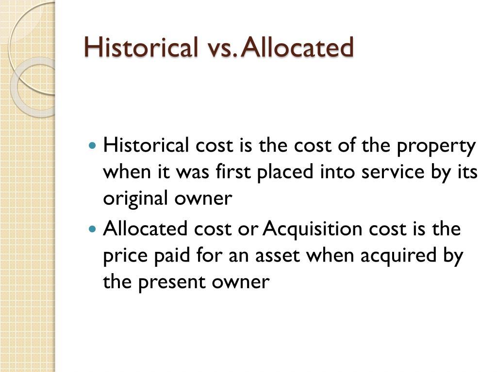 Historical vs. Allocated
