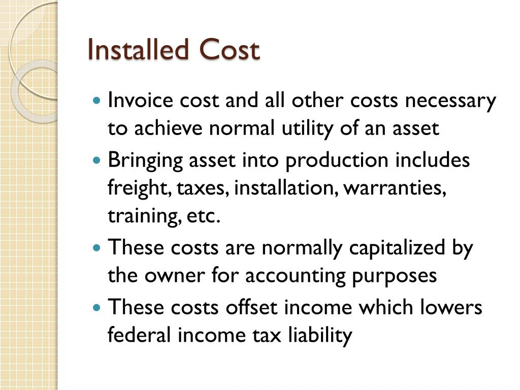 Installed Cost