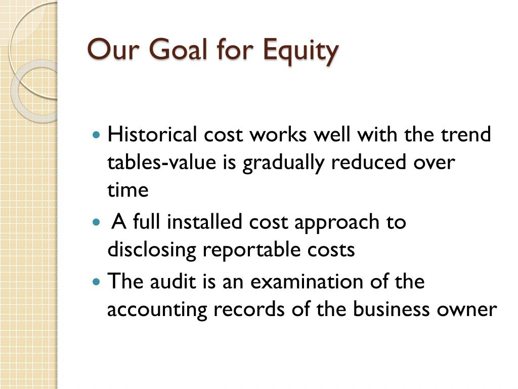 Our Goal for Equity