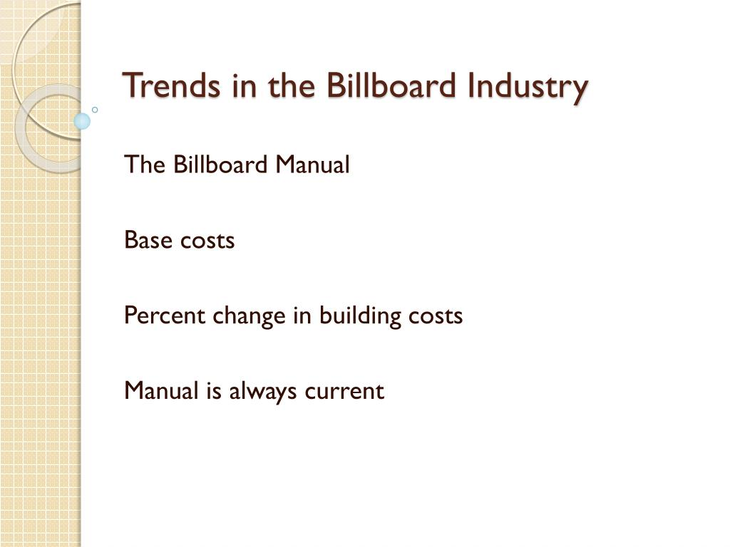 Trends in the Billboard Industry