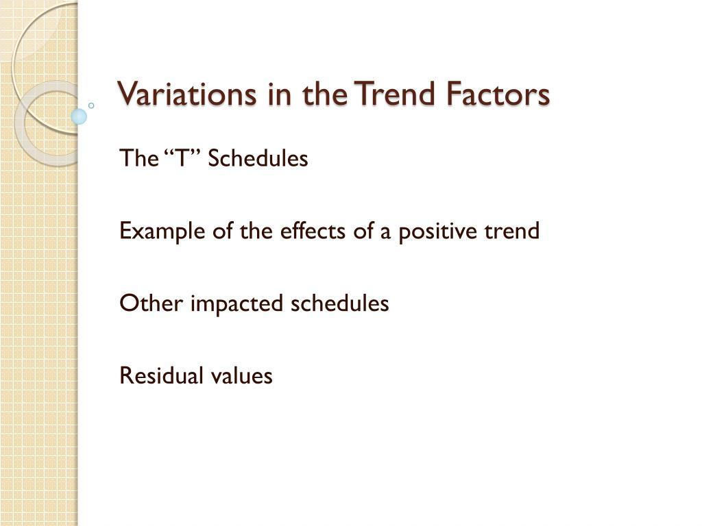 Variations in the Trend Factors