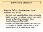 banks and liquidity