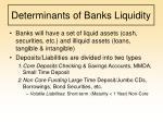 determinants of banks liquidity