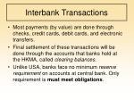 interbank transactions