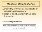 measure of dependence