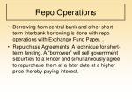 repo operations
