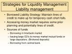 strategies for liquidity management liability management