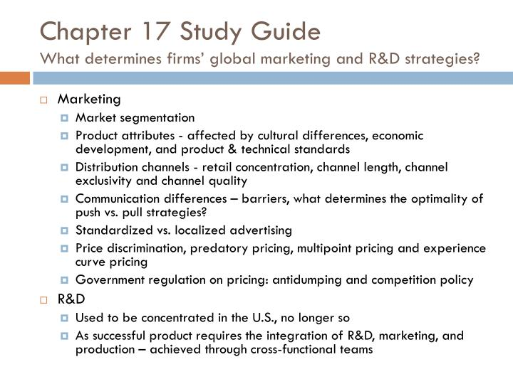 global marketing and r d On paper, global marketing is undoubtedly a great concept the idea of leveraging a marketing strategy across multiple markets seems to be nothing but beneficial it saves effort and resources, and ensures a high degree of consistency between all in-market branding and activities however, the.