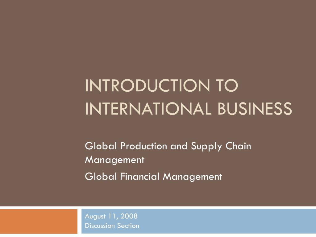 ppt introduction to international business powerpoint presentation