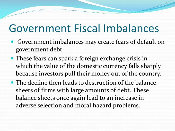 Government Fiscal Imbalances