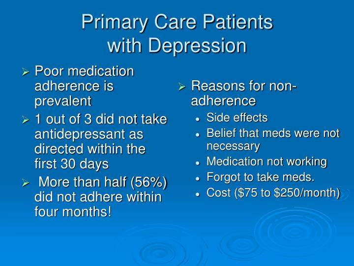Poor medication adherence is prevalent