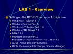 lab 1 overview