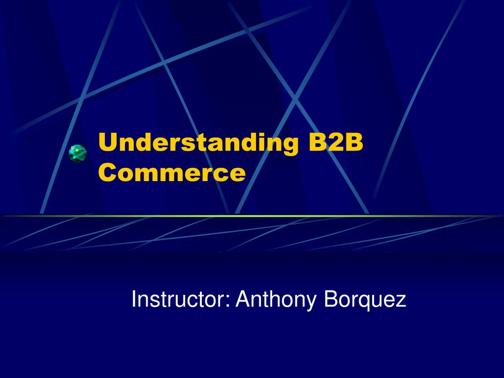 understanding b2b commerce l.