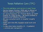 texas palliative care tpc