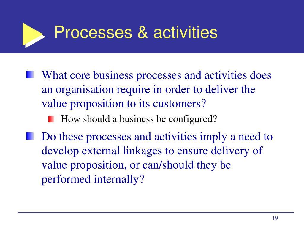 Processes & activities