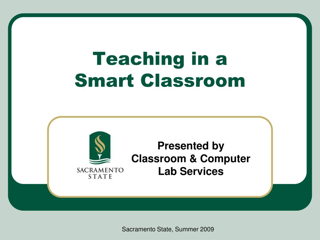 teaching in a smart classroom l.
