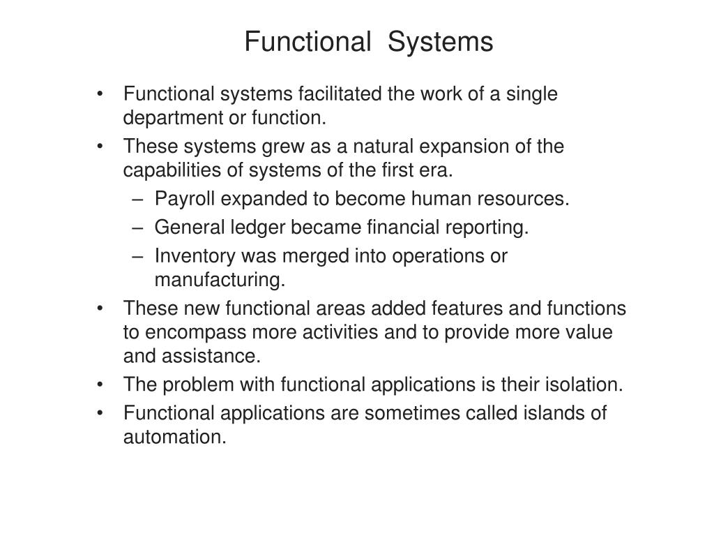 Functional  Systems