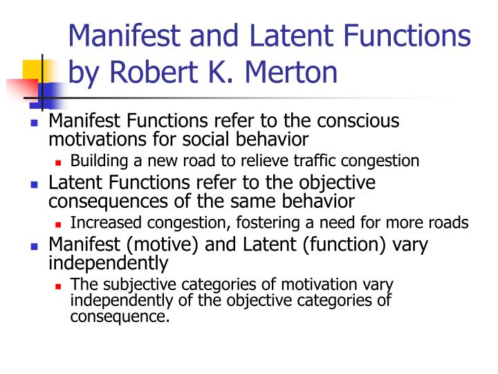 manifest and latent functions merton If you like robert k merton manifest and latent functions pdf download, you may also like: rattlesnake boogie by rl boyce waxploitation records has come to bandcamp the label is home to several great acts: rl boyce, zoo animal, & leo justi, among many others.