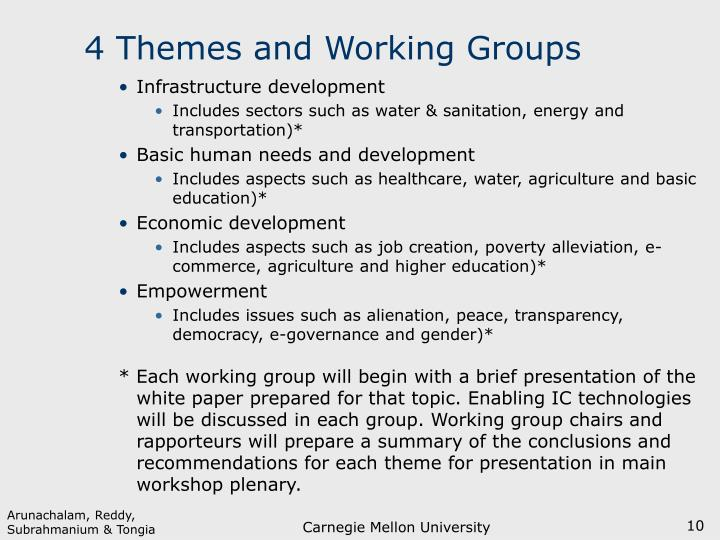 4 Themes and Working Groups
