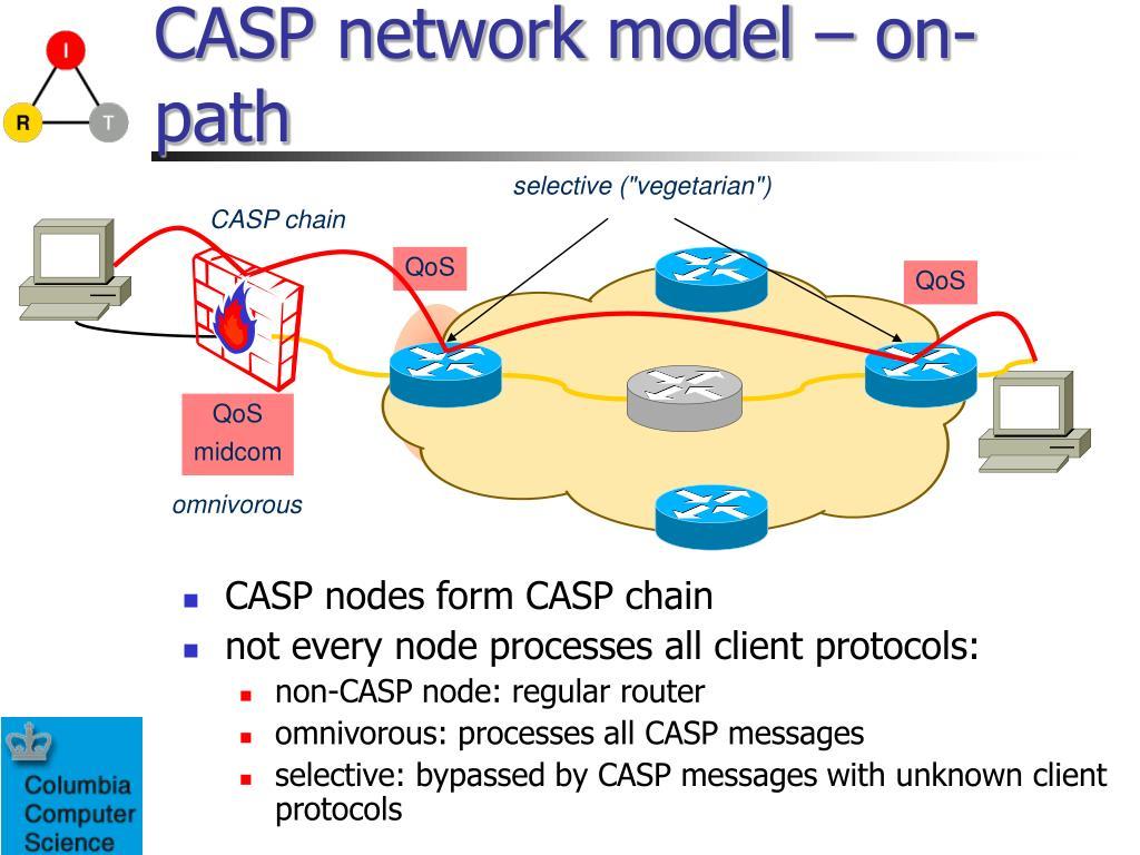 CASP network model – on-path