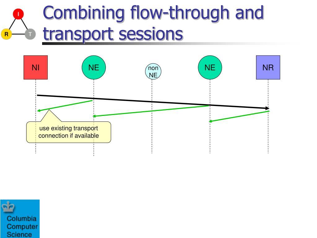 Combining flow-through and transport sessions