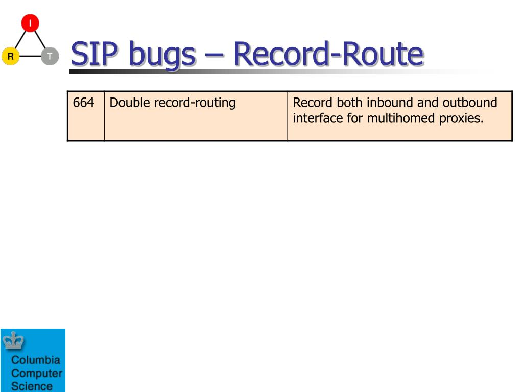 SIP bugs – Record-Route