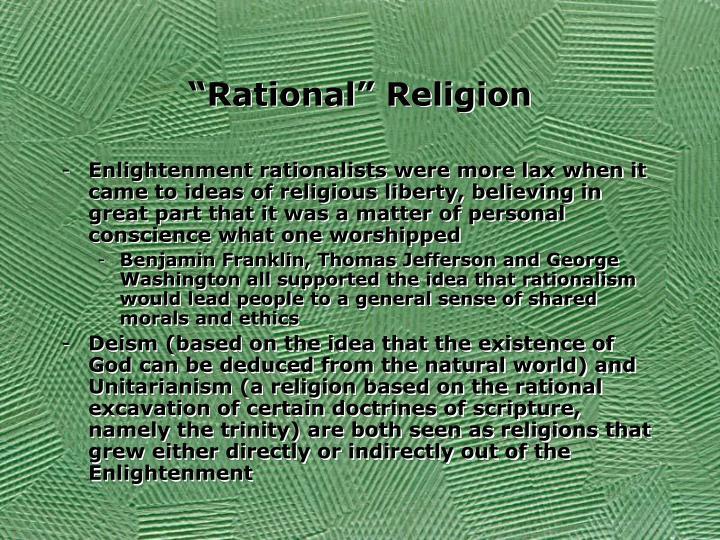 """Rational"" Religion"