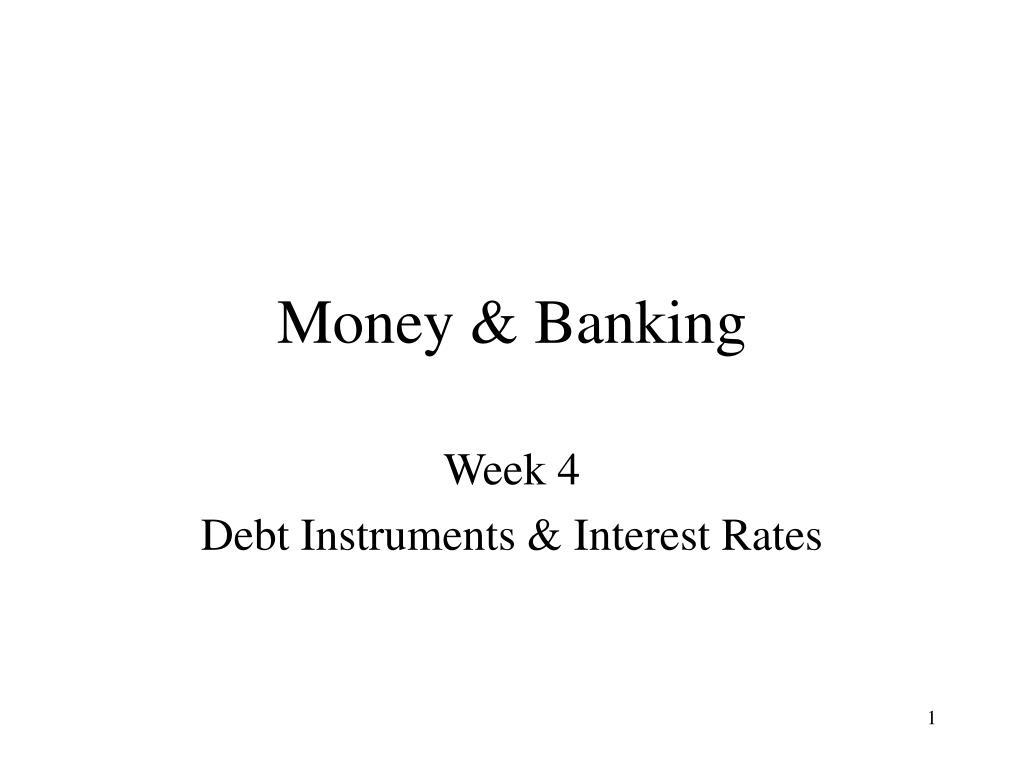 money banking l.