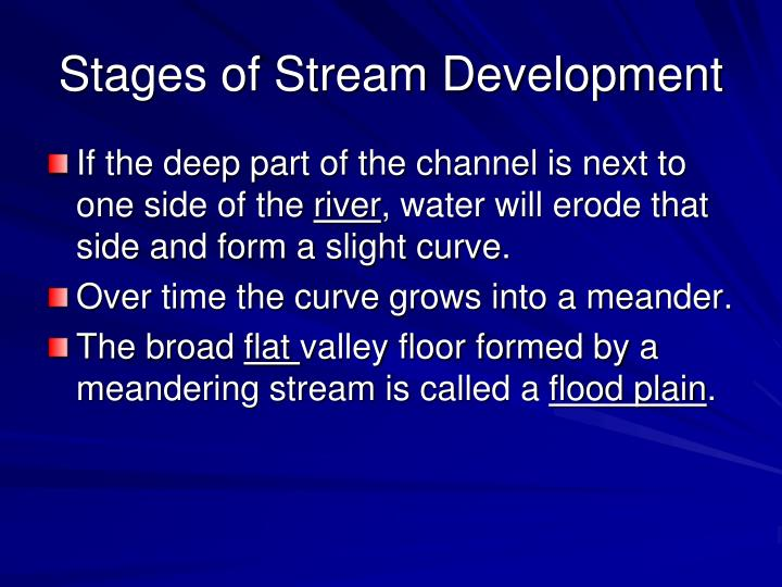 Stages of Stream Development