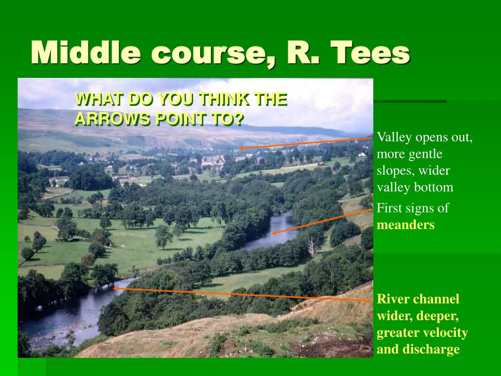 Middle course, R. Tees