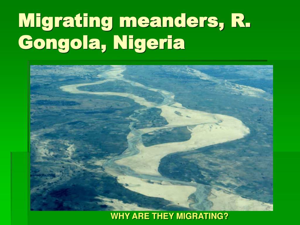 Migrating meanders, R. Gongola, Nigeria