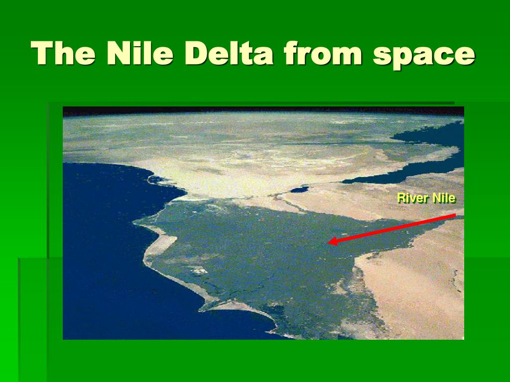 The Nile Delta from space