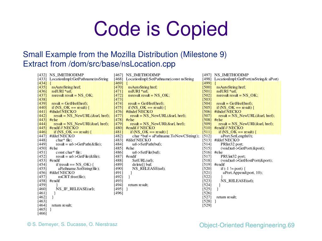 Code is Copied