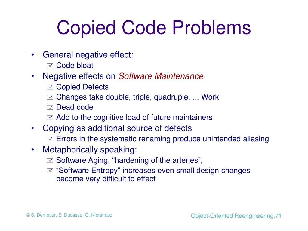 Copied Code Problems