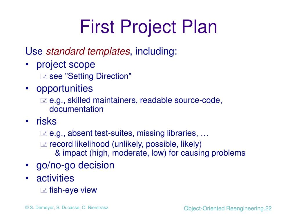 First Project Plan