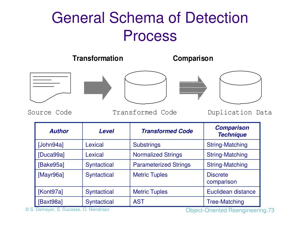 General Schema of Detection Process