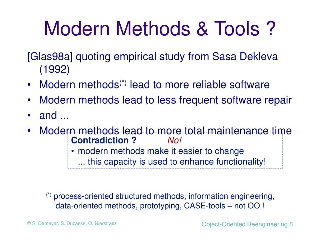 Modern Methods & Tools ?