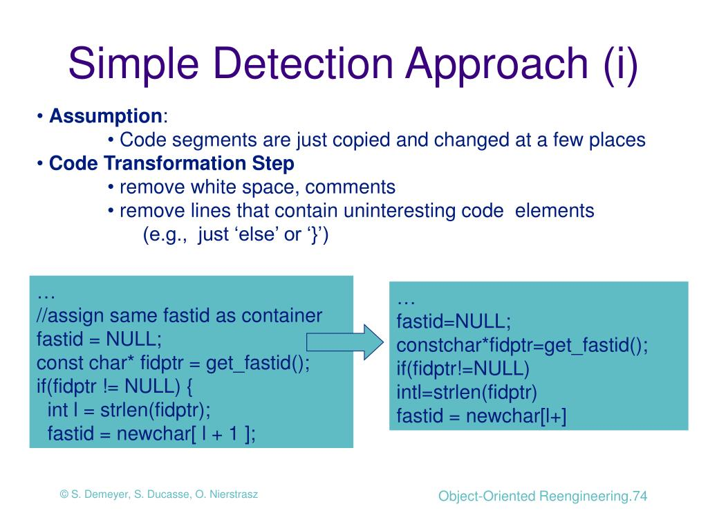 Simple Detection Approach (i)