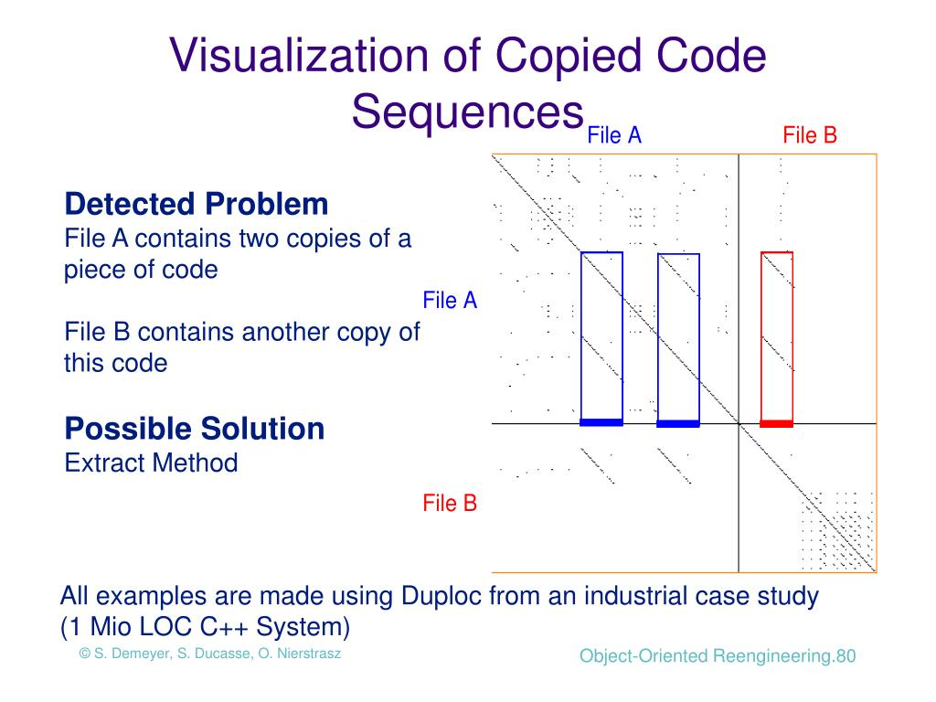 Visualization of Copied Code Sequences