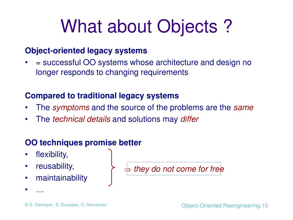 What about Objects ?
