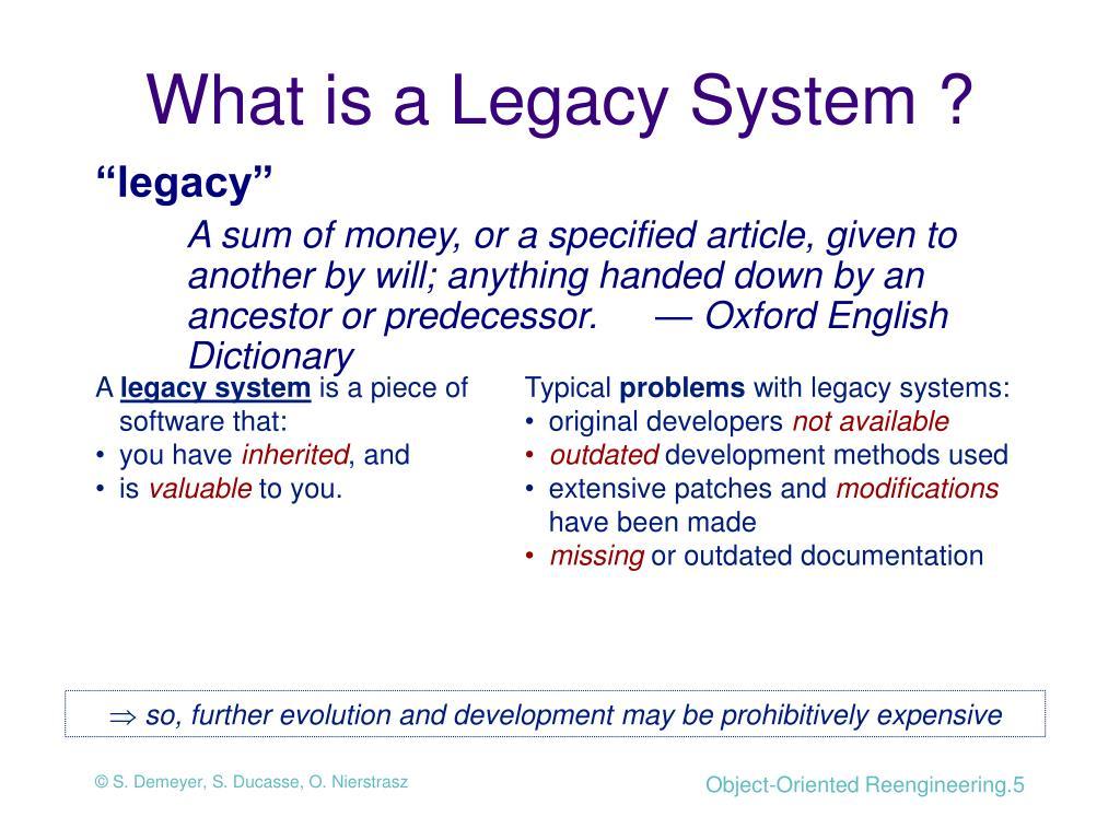 """""""legacy"""""""
